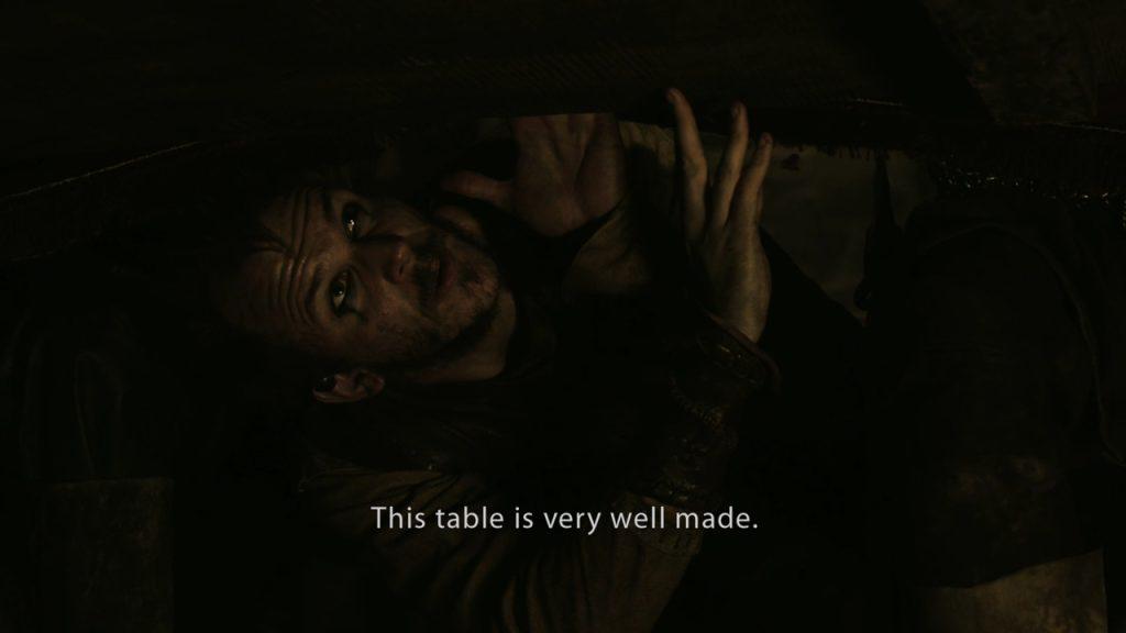 Floki admires table