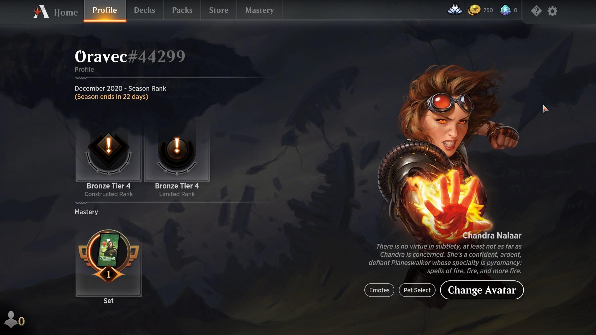 MTGA profile